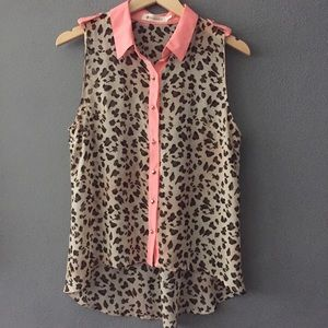 Studded Leopard Sleeveless Blouse Impeccable Pig